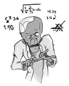 Flee for your lives, it's a zombie doing calculus!